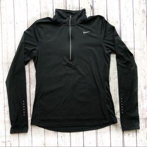 Nike Dri Fit Half Zip Long Sleeve Running Shirt